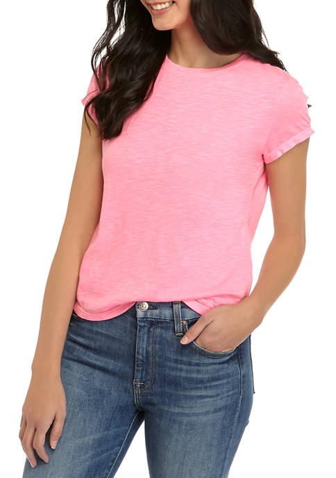 Crown & Ivy™ Petite Crewneck T-Shirt