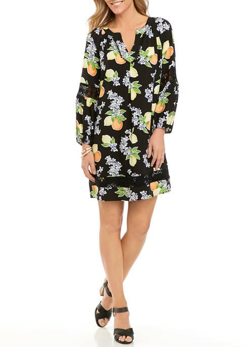 Crown & Ivy™ Petite Crochet Peasant Dress