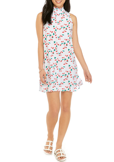 Crown & Ivy™ Petite Sleeveless Smocked Printed Dress