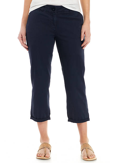 Crown & Ivy™ Petite Charlotte Relaxed Rolled Chinos