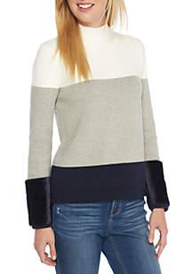 Petite Faux Fur Trim Sweater