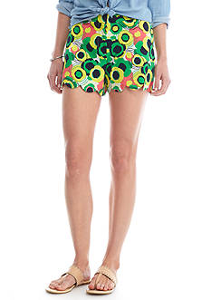 Crown & Ivy™ Petite Scallop Shorts