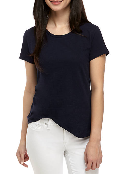 Crown & Ivy™ Petite Short Sleeve Crew Neck