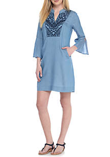 Petite Bell Cuff Sleeve Dress
