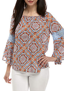 Petite Ouitile Bell Sleeve Top