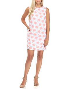 Petite Size Sleeveless Ruffle Trim Dress