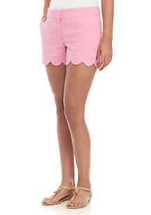 Crown & Ivy™ Petite Shelby Scalloped Hem Shorts
