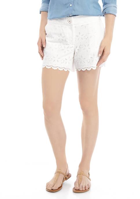Petite Scallop Shorts