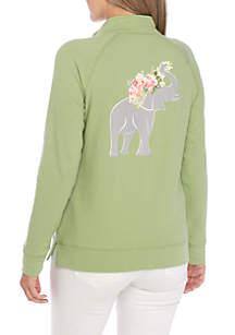 Petite Long Sleeve Mock Neck Sweatshirt