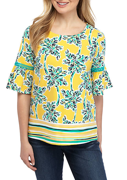 Crown & Ivy™ Petite Short Sleeve Bell Sleeve