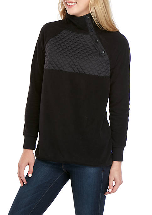 Crown & Ivy™ Petite Long Sleeve Side Snap