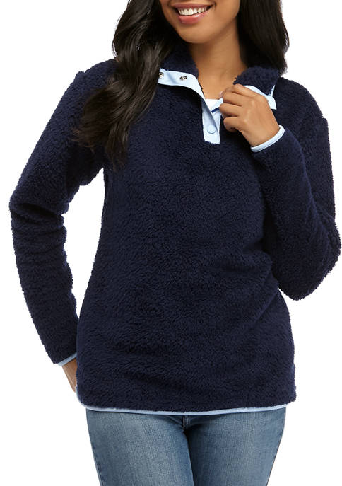 Crown & Ivy™ Petite Long Sleeve Woobie Mock
