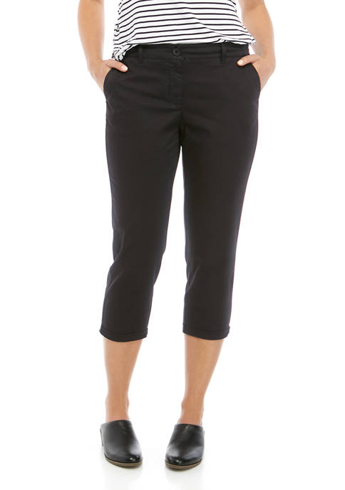 Crown & Ivy™ Petite Rolled Crop Chino Pants