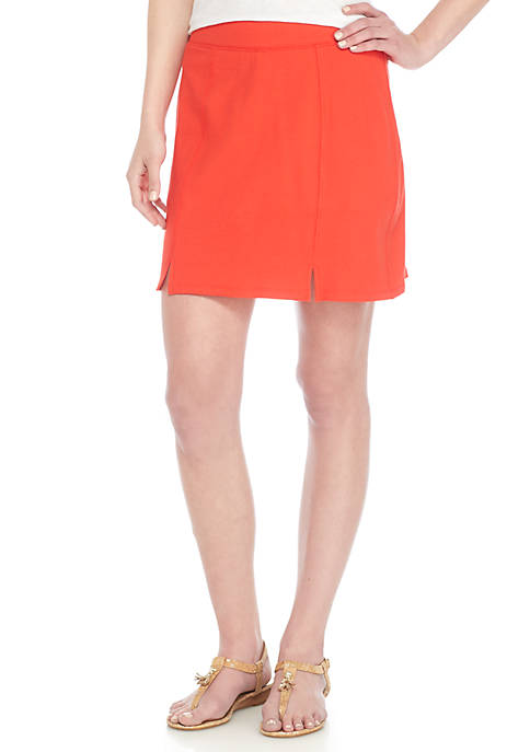 Crown & Ivy™ Petite Slit Front Knit Skort