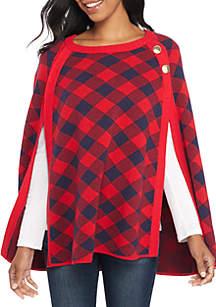 Petite Pullover Cape Sweater