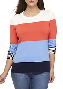 Petite Long Sleeve Knit Sweater