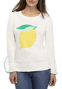 Crown & Ivy™ Petite Long Sleeve Novelty Sweater