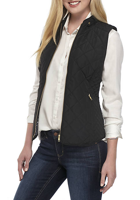 Crown & Ivy™ Petite Quilted Vest
