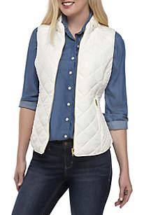 Petite Quilted Vest