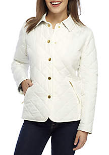 Petite Long Sleeve Quilted Jacket