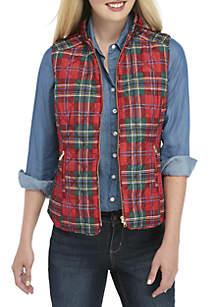 Petite Sleeveless Zip Front Vest