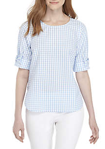 Petite Short Bow Sleeve Top