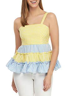 Crown & Ivy™ Petite Sleeveless Color Block Top