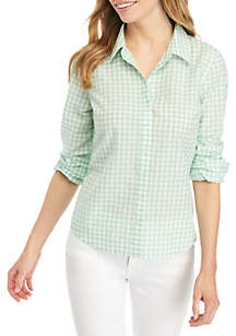 5126628ad184 ... Crown & Ivy™ Petite Long Sleeve Button Up Shirt
