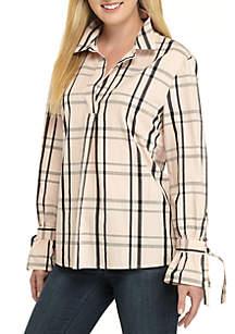 Petite Long Sleeve Printed Tunic