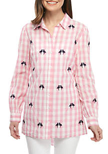 7a6afbb432 ... Crown & Ivy™ Petite Long Sleeve Swingy Tunic
