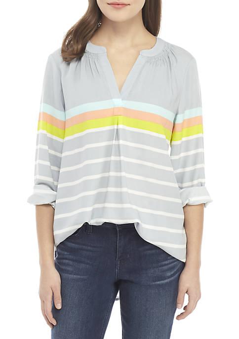 Crown & Ivy™ Petite 3/4 Sleeve Print Tunic