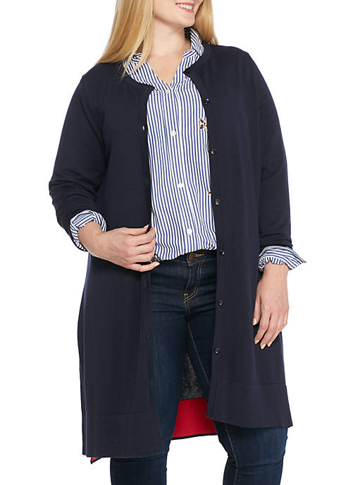 Crown & Ivy™ Plus Size Duster Cardigan
