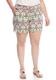 Fruit Scallop Shorts