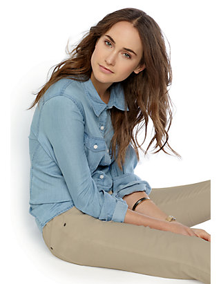 ca2caf96 Crown & Ivy™. Crown & Ivy™ Plus Size Classic Chambray Shirt
