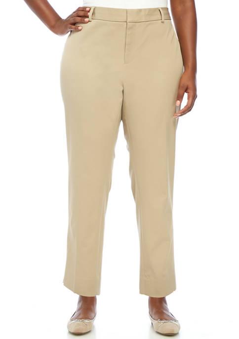 Crown & Ivy™ Plus Size Bi Stretch Pants-