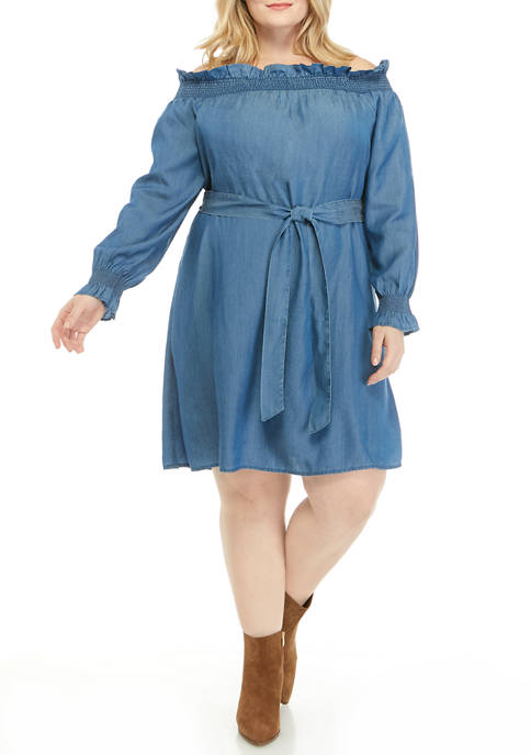 Crown & Ivy™ Plus Size Long Sleeve Ruffle