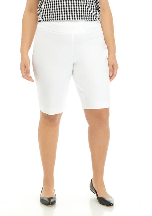 Plus Size Bermuda Pull On Shorts