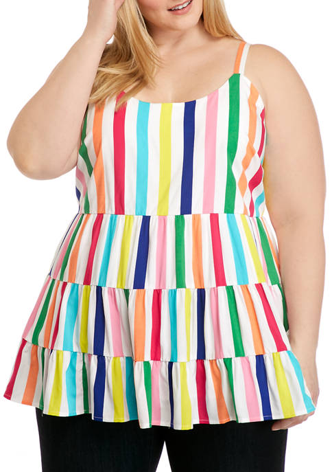 Crown & Ivy™ Plus Size Sleeveless Yarn Dye
