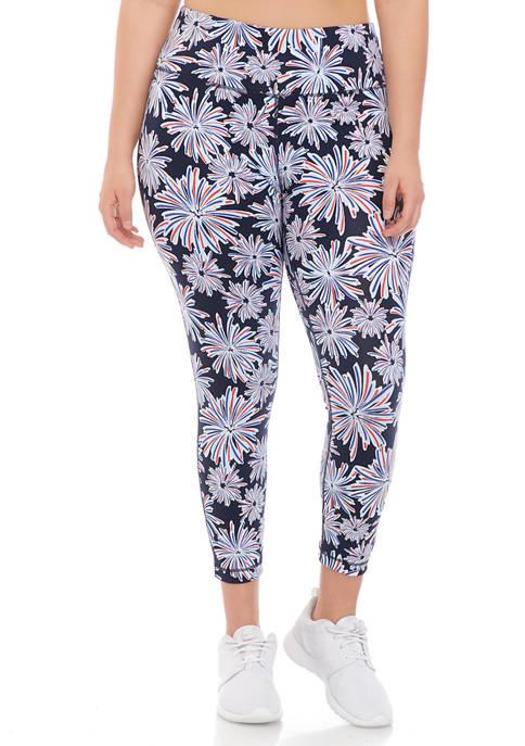 Crown & Ivy™ Plus Size 7/8 Printed Leggings