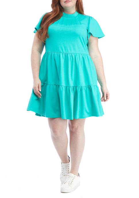 Crown & Ivy™ Plus Size Short Sleeve Tiered
