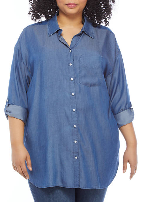 Crown & Ivy™ Plus Size High Low Tunic