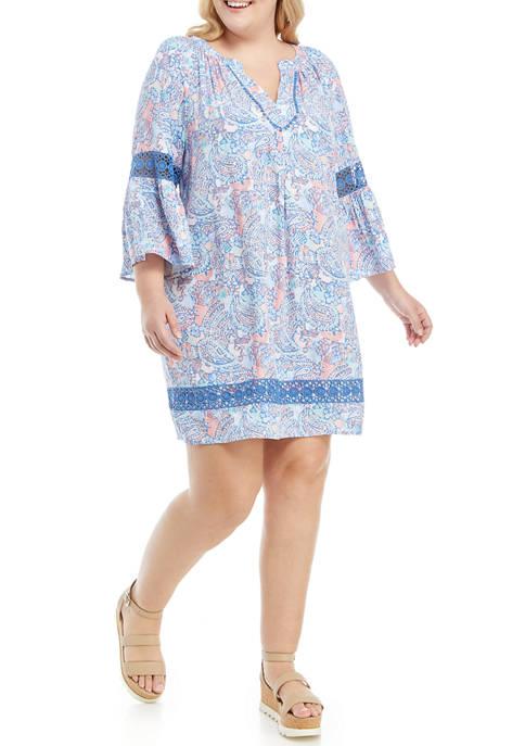 Crown & Ivy™ Plus Size Crochet Peasant Dress