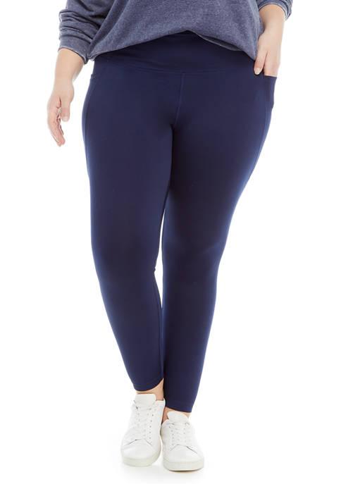 Crown & Ivy™ Plus Size Solid Leggings