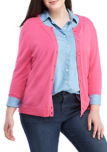 1e4b91c23cc ... Crown   Ivy™ Plus Size High Low Cardigan