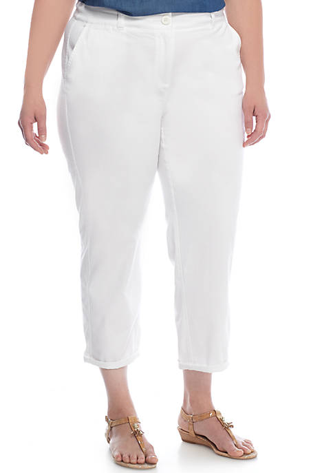 Plus Size Charlotte Relaxed Rolled Chino Pants