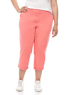 Crown & Ivy™ Plus Size Charlotte Relaxed Rolled Chino Pants