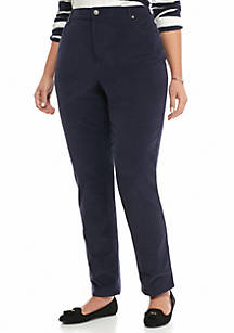 a4987df4e9a Crown   Ivy™. Crown   Ivy™ Plus Size Skinny Leg Corduroy Pants