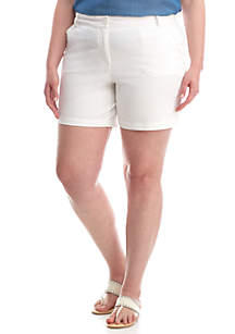Plus Size Solid 7-in Short