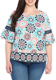 Plus Size Mommy & Me Bell Sleeve Knit Top