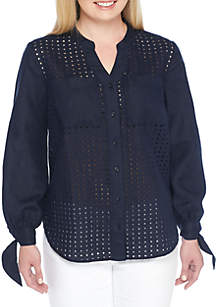 Plus Size Textured Tunic